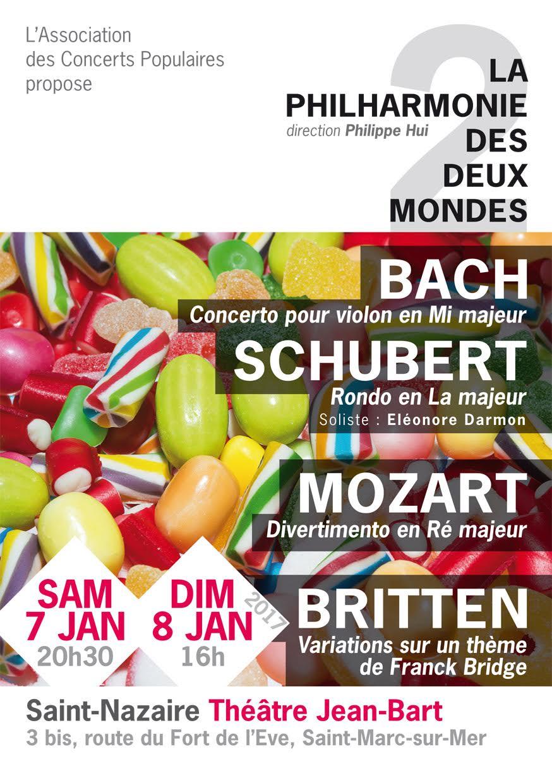 7 et 8 janvier 2017 : concerts au Théâtre Jean Bart à Saint-Nazaire